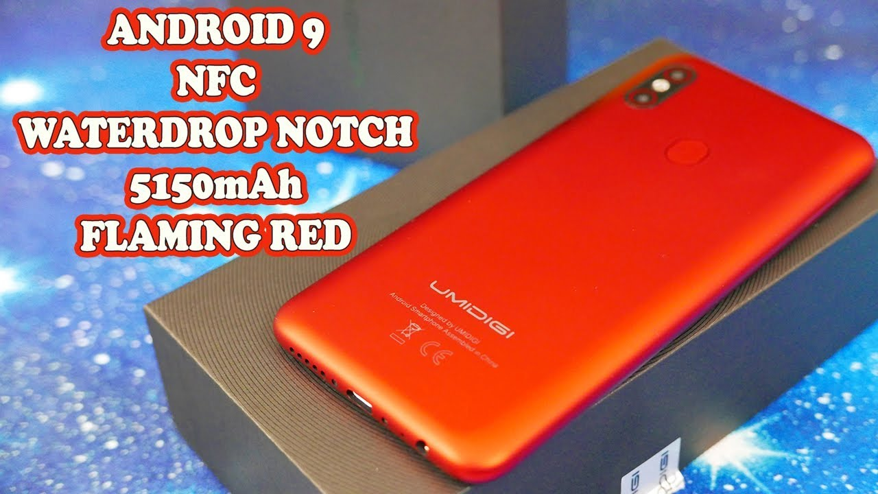 UMIDIGI F1 - NFC, ANDROID 9, WATERDROP NOTCH, 5150mAh, FLAMING RED