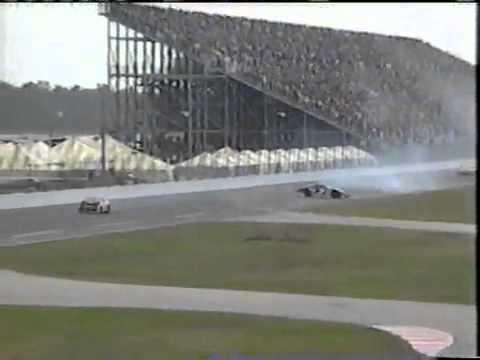 1997 Dale Earnhardt flip in Nascar @ Daytona (live)