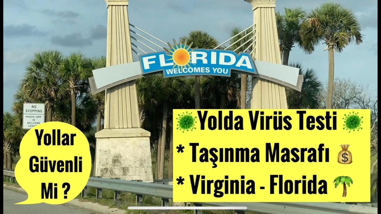 ✔️Amerika'da 20 Saatlik Yolculuk |  Virginia&Florida | Taşınma Masrafı Ne Kadar? | Amerika'da Yaşam!