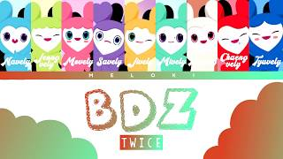 Gambar cover TWICE (트와이스) - 'BDZ' Color Coded Lyrics (w/ Lovelys) [JAP/ROM/ENG]