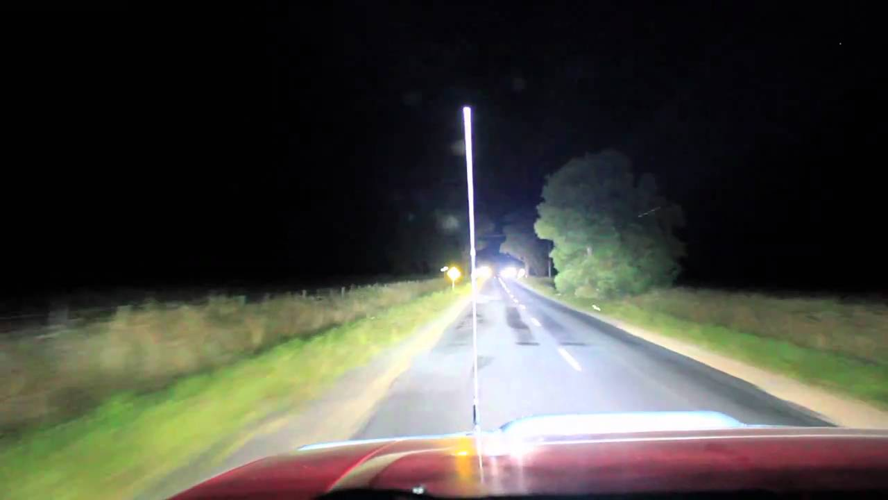 Led Headlights Vs Hid >> HID-Lightsdownunder: Night drive with all 100W HID lights on at full noise.Brighter than ...