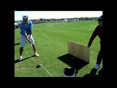 Johnny Damon Swings Away at PGA Golf Demo Day