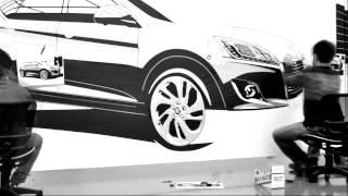 Luxgen U6 Tape Drawing Art