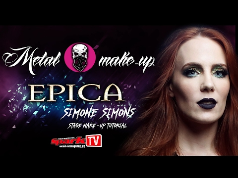 EPICA - Simone Simons stage make-up tutorial
