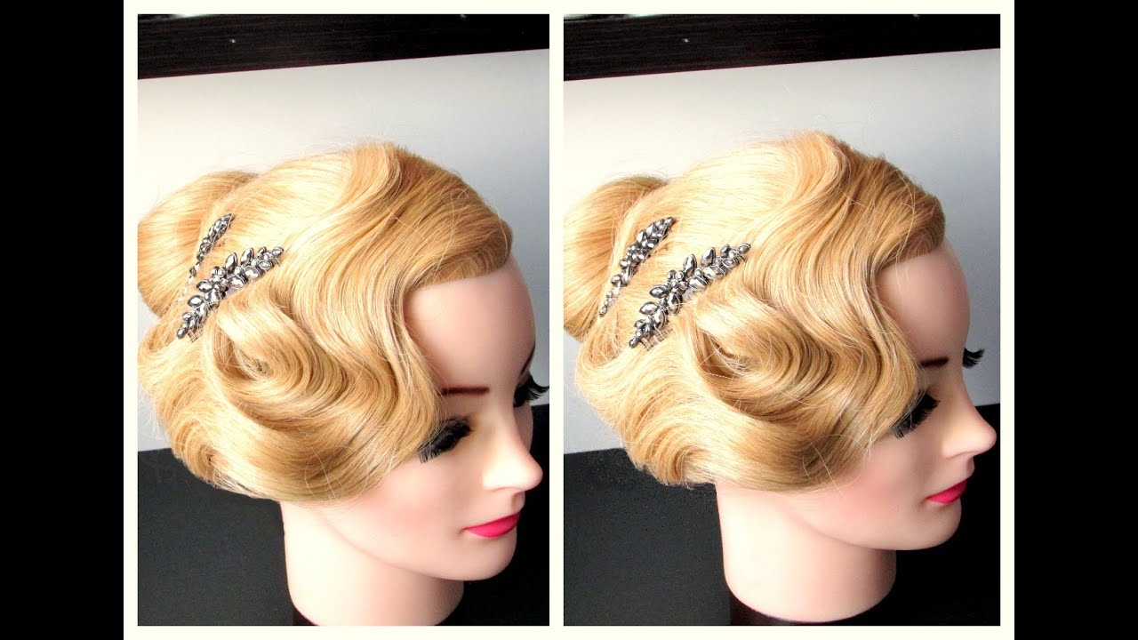 Finger Wave Inspired Hairstyle For Long Medium Hair