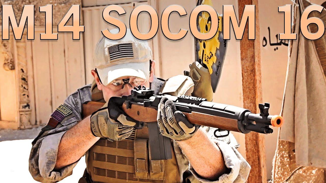 Airsoft GI - CYMA M14 Socom 16 AEG Gun Review at SC Village SC Viper