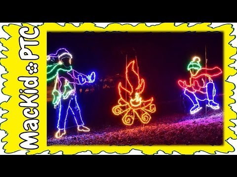 Family Travel Callaway Gardens Fantasy In Lights YouTube