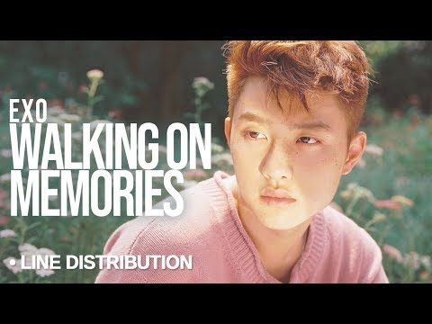 EXO (엑소) - Walk on Memories : Line Distribution (Color Coded)