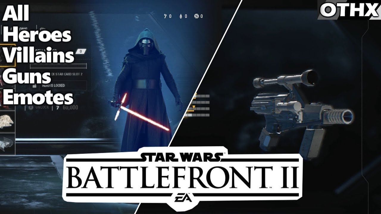 Star Wars Battlefront 2 All Characters And Weapons Ft Kylo Ren