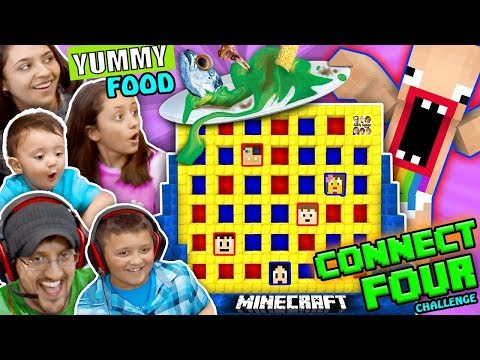 Thumbnail: FGTEEV MINECRAFT CONNECT 4 FAMILY GAME NIGHT CHALLENGE! LOSERS EAT GROSS FOOD WAGER GAME w/ BARF 😜