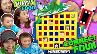 FGTEEV MINECRAFT CONNECT 4 FAMILY GAME NIGHT CHALLENGE! LOSERS EAT WEIRD FOOD COMBINATIONS WAGER thumbnail