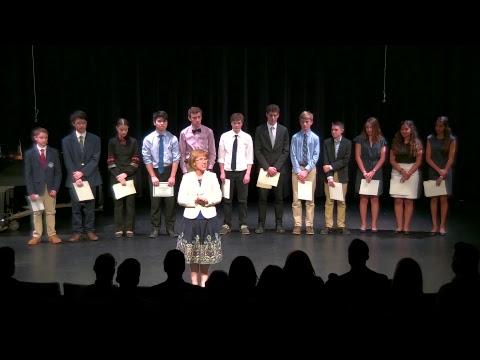 Middle School Declamation Contest 2018