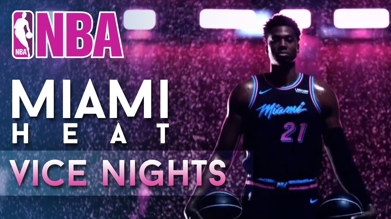 sports shoes 4ee2b 9f77d The New Miami Heat 'Vice Nights' Theme is Lit!