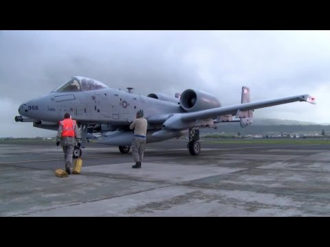 Legendary A-10 Warplanes Arriving At Lajes Air Base