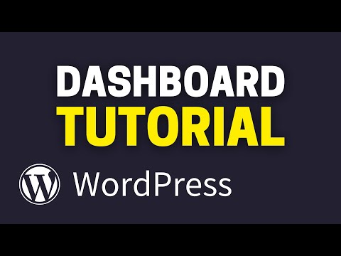 WordPress dashboard setup