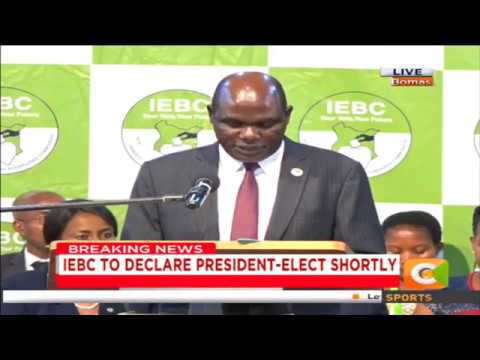 Chebukati: To us as IEBC, all Kenyans and observers, we have had a free, fair and credible election