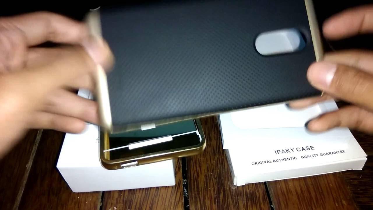 Case Xiaomi Redmi Note 3 Ipaky Allumunium Gold Youtube 4