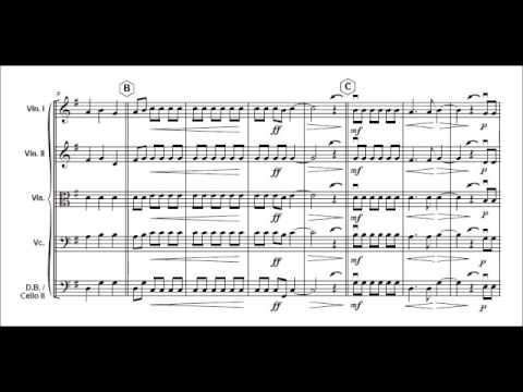 1812 Overture part 1  P Tchaikovsky for easy string orchestra