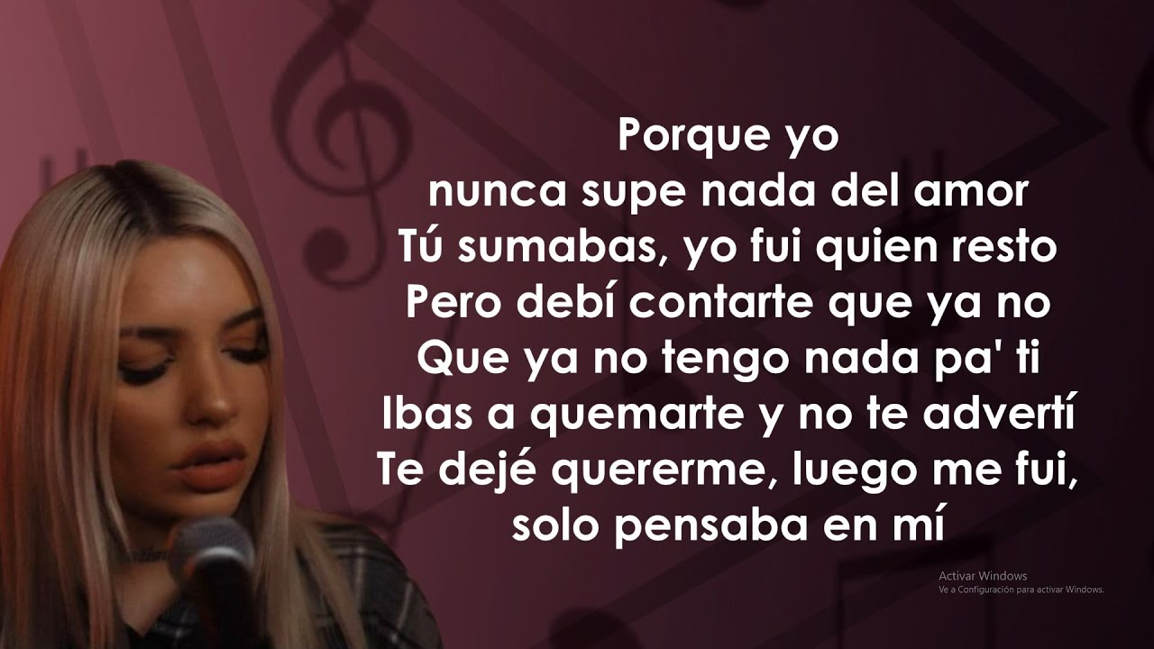 Karen Méndez, Fase - La Parte Buena (Letra/Lyrics)