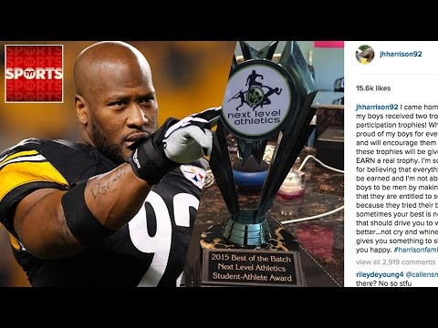 James Harrison DOES NOT BELIEVE IN Participation Awards [Makes Kids Give Back Trophies]