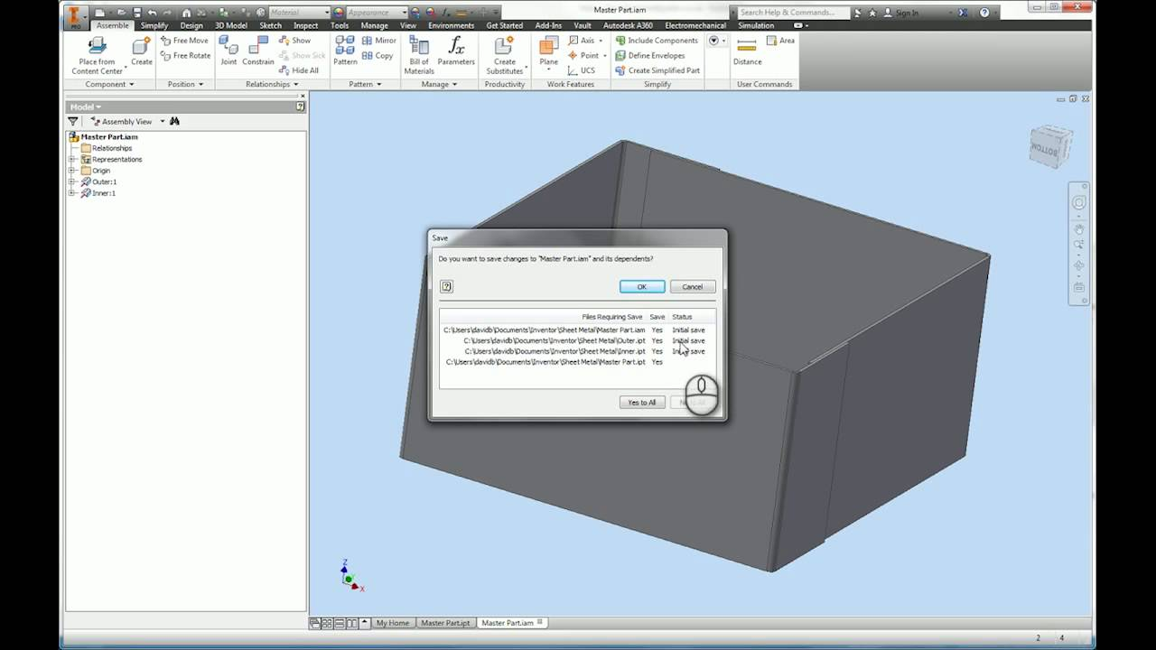 autodesk inventor 2016 tutorial sheet metal youtube rh youtube com manual inventory tracking manual inventory control methods