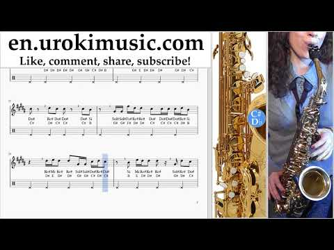 Saxophone lessons (Alto) The Chainsmokers - Sick Boy Sheet Music Tutorial um-ih352