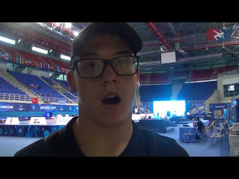 Jake Hendricks after 2017 Cadet World Championships