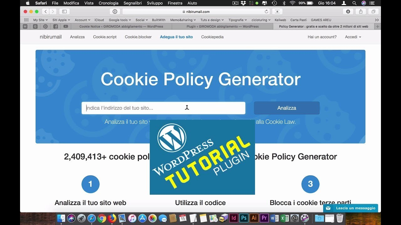 7c75bab36539 WordPress | Plugin per inserire il banner Cookie Policy e Privacy in 5  minuti