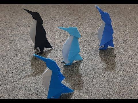 ORIGAMI - Gấp Con Chim Cánh Cụt || How To Make Penguin