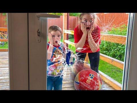 Света и Богдан ДОИГРАЛИСЬ в футбол - РАЗБИЛИ окно