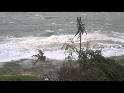 Super Cyclone Pam impacts Vanuatu capital of Port Vila