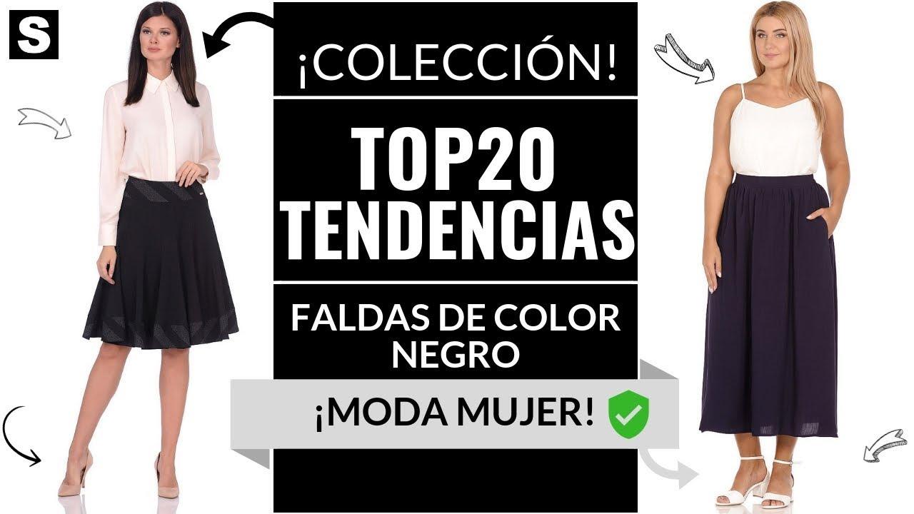 Faldas Negras Como Vestir Bien 2019 Faldas Color Tendencias
