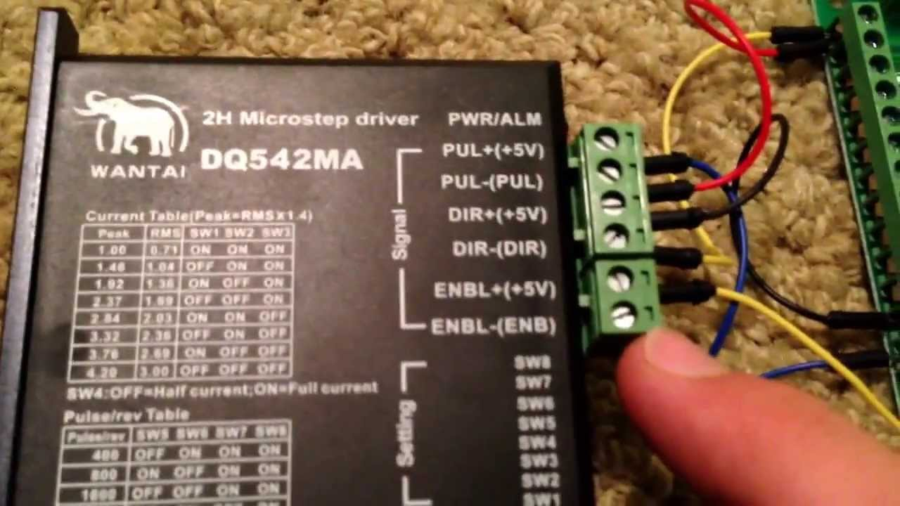 How to DB25-1205 bob breakout board and DQ542MA Driver cnc stepper Wantai Stepper Motor Wiring Diagram on