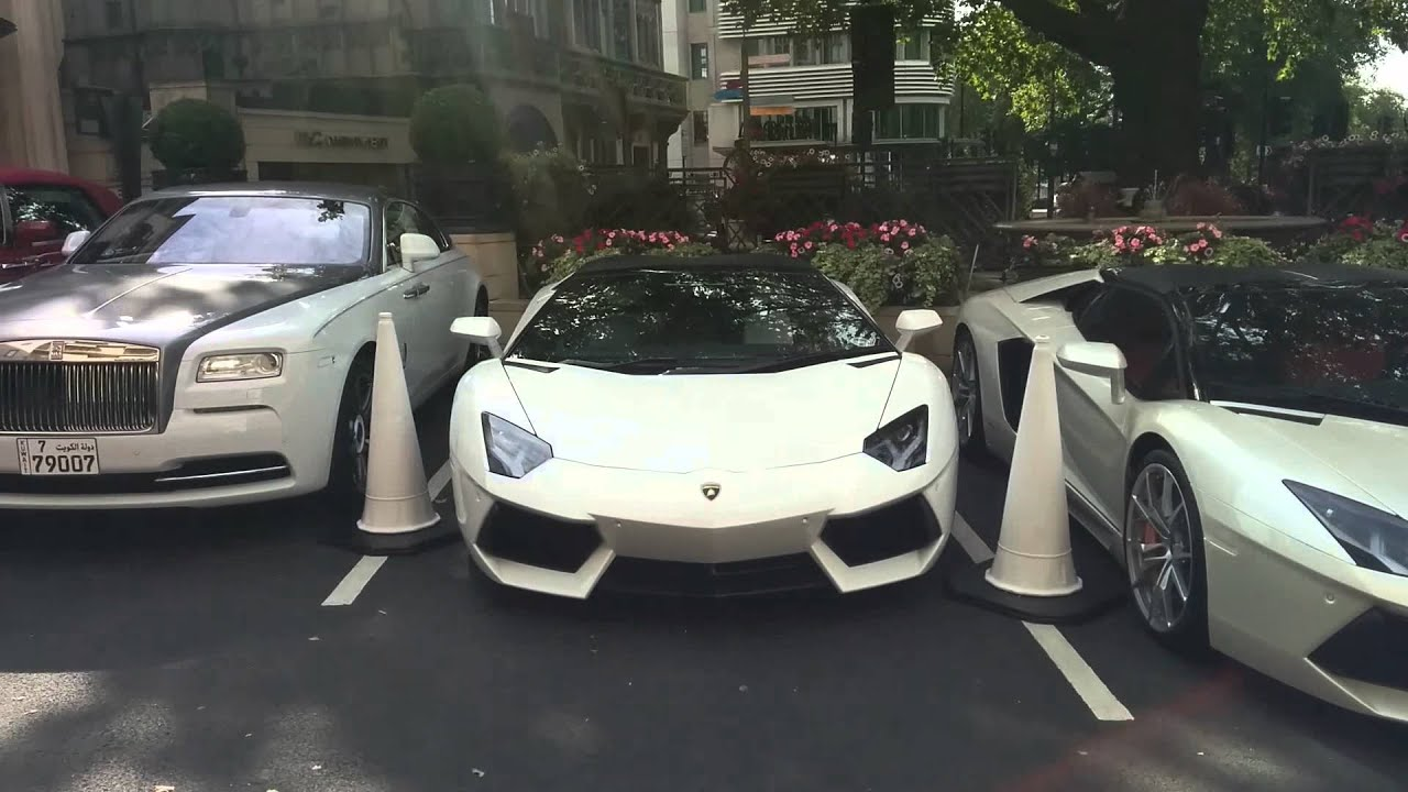 Super cars at 45 park lane - YouTube