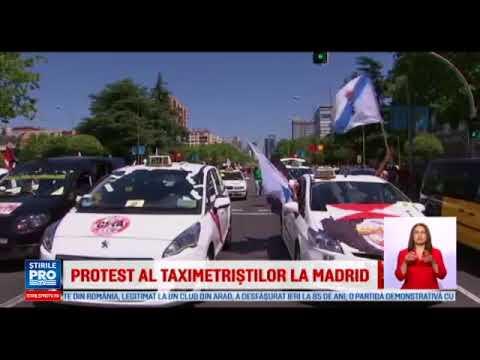 Greva taximetristilor din Madrid