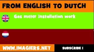 NEDERLANDS = ENGELS = Installeren van gasmeters