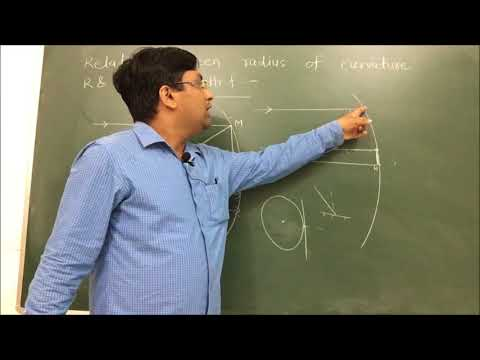 Relation between Radius of Curvature  and focal length f for concave mirror