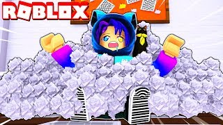 Making The BIGGEST Mountain Of Paper In Roblox   Paper Ball Simulator