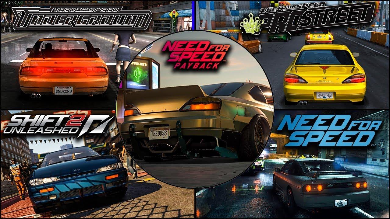 Nissan S-Platform (180sx,200sx,240sx,Silvia) Evolution in NFS Games – 4kUHD