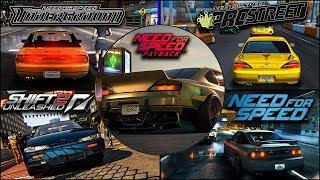 Nissan S-Platform (180sx,200sx,240sx,Silvia) Evolution in NFS Games - 4kUHD