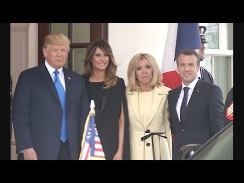 French President Arrives at White House