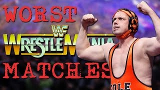20 Worst WWE Wrestlemania Matches in History!