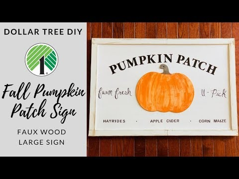 🍂DOLLAR TREE DIY FALL FARMHOUSE PUMPKIN SIGN🍂