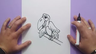 Como dibujar un pajaro paso a paso 4 | How to draw a bird 4