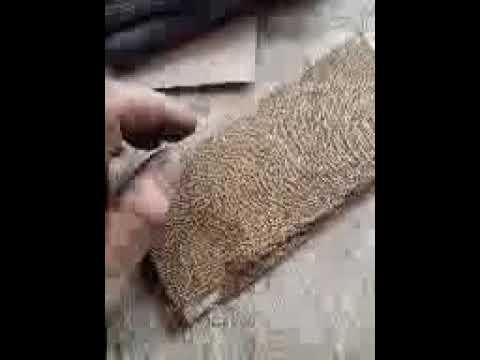Hemp fiber woven fabric, pressed with plasic film as a fusing agent..