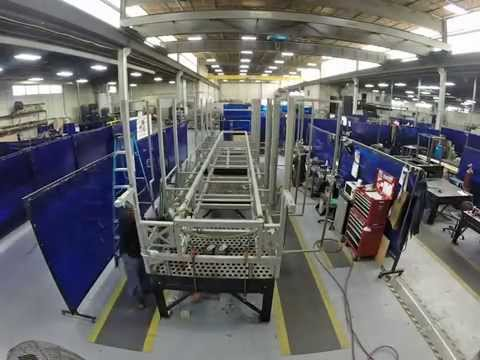 Time Lapse - 40 FT Structural Stainless Steel Frame Fabrication - Time Lapse