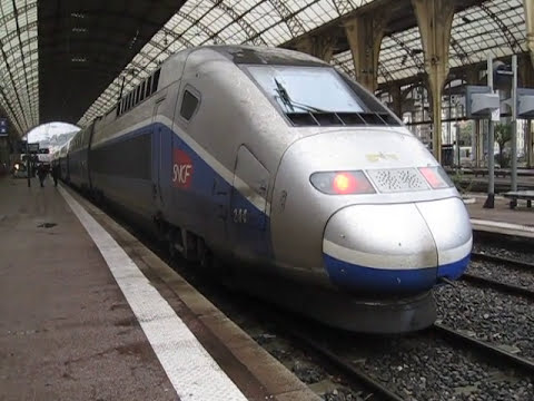 High speed Train TGV rail car locomotive
