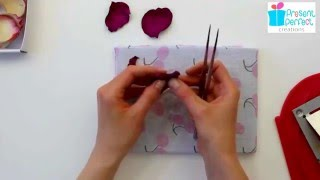 Shaping leather petals with tweezers