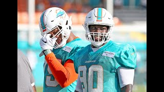 "Miami Dolphins' Charles Harris is the ""last man standing"" after veteran defensive ends leave"