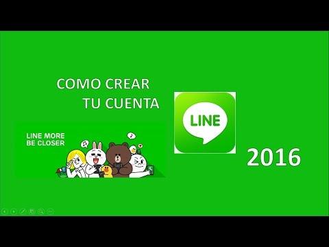 Como Crear tu Cuenta Line 2016